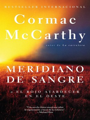 cover image of Meridiano de sangre