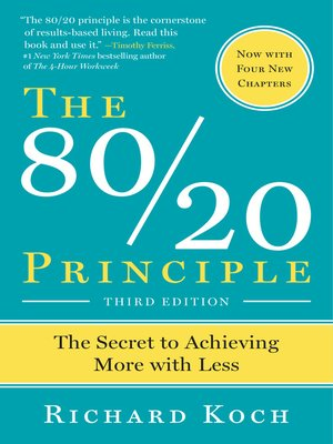 cover image of The 80/20 Principle