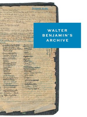 cover image of Walter Benjamin's Archive