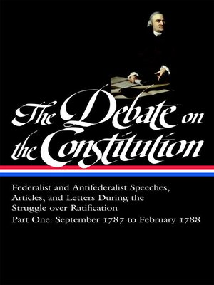 cover image of The Debate on the Constitution, Part 1