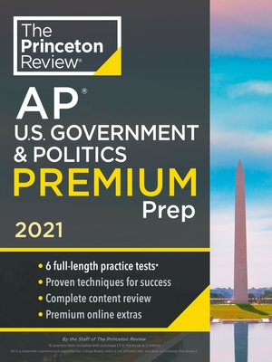 cover image of Princeton Review AP U.S. Government & Politics Premium Prep, 2021