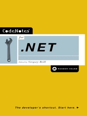 cover image of CodeNotes® for .NET