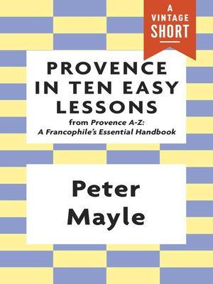 cover image of Provence in Ten Easy Lessons