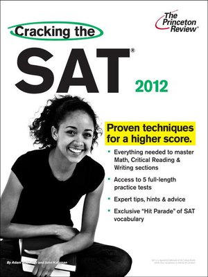 cover image of Cracking the SAT, 2012 Edition