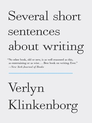 cover image of Several Short Sentences About Writing