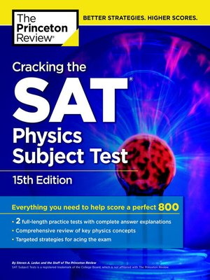 Cracking the SAT Physics Subject Test, 1 by Princeton Review