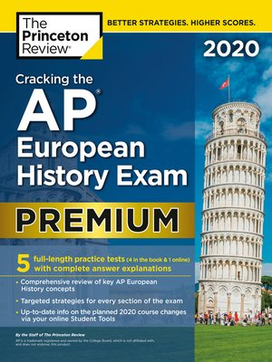 cover image of Cracking the AP European History Exam 2020, Premium Edition