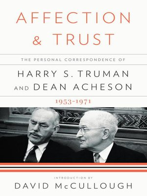 cover image of Affection and Trust