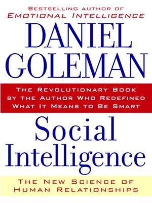 Social Intelligence by Daniel Goleman PDF Download ...