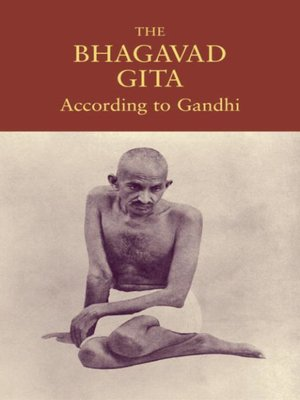 cover image of The Bhagavad Gita According to Gandhi