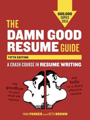 cover image of The Damn Good Resume Guide