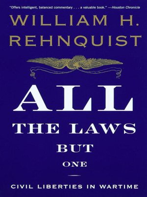 cover image of All the Laws but One