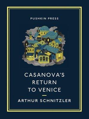 cover image of Casanova's Return to Venice
