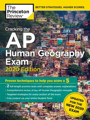 cover image of Cracking the AP Human Geography Exam, 2020 Edition