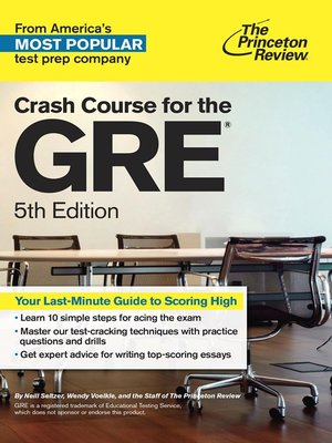 cover image of Crash Course for the GRE