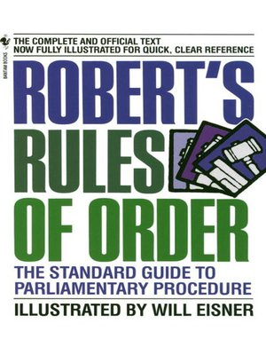 cover image of Robert's Rules of Order