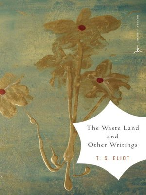 cover image of The Waste Land and Other Writings