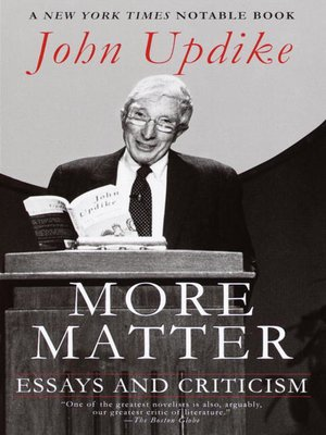 cover image of More Matter