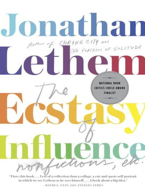 cover image of The Ecstasy of Influence