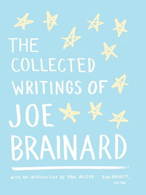 cover image of The Collected Writings of Joe Brainard