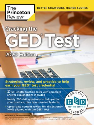 cover image of Cracking the GED Test with 2 Practice Tests, 2020 Edition