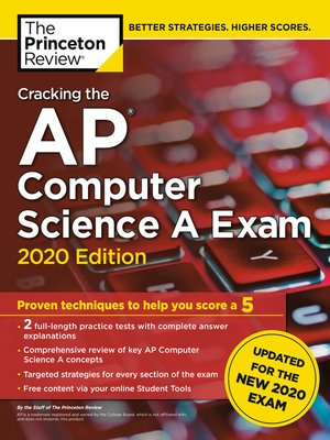 cover image of Cracking the AP Computer Science a Exam, 2020 Edition