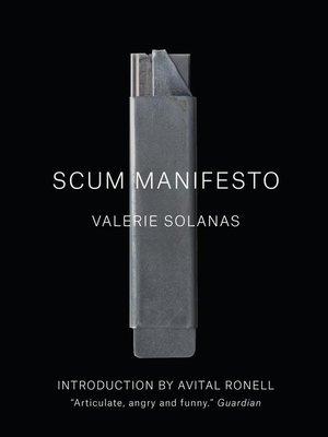cover image of SCUM Manifesto