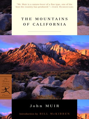 cover image of The Mountains of California