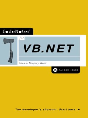 cover image of CodeNotes® for VB.NET