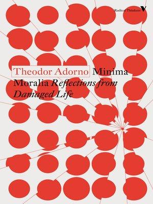cover image of Minima Moralia