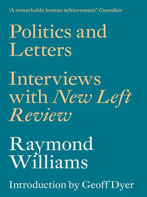 cover image of Politics and Letters