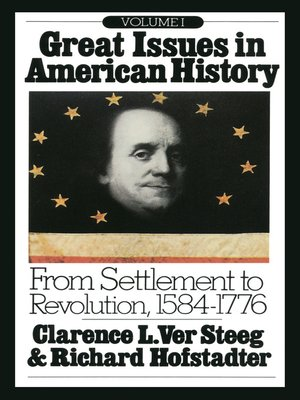 cover image of Great Issues in American History, Volume I