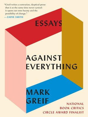 cover image of Against Everything