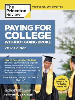 cover image of Paying for College Without Going Broke, 2017 Edition