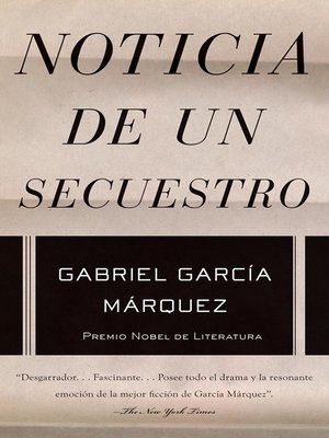 cover image of Noticia de un secuestro