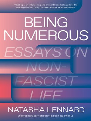 cover image of Being Numerous