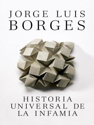 cover image of Historia Universal de la Infama