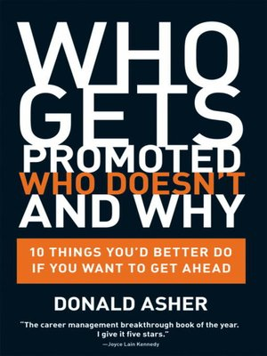 cover image of Who Gets Promoted, Who Doesn't, and Why