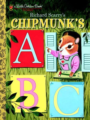 cover image of Richard Scarry's Chipmunk's ABC