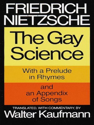 cover image of The Gay Science