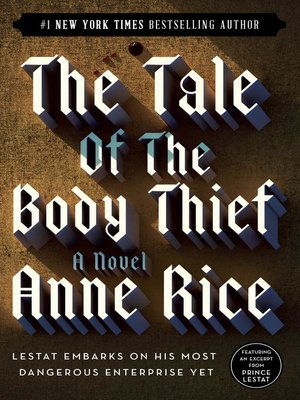 cover image of The Tale of the Body Thief