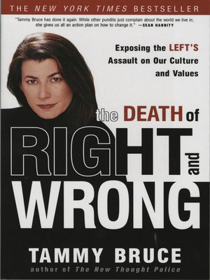 cover image of The Death of Right and Wrong