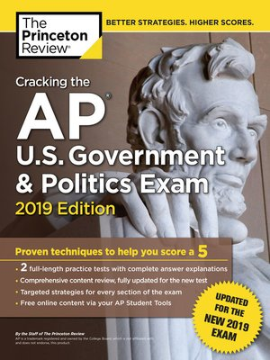 cover image of Cracking the AP U.S. Government & Politics Exam, 2019 Edition