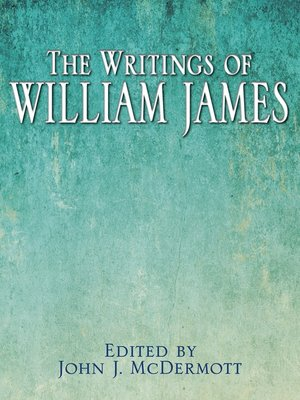 cover image of The Writings of William James