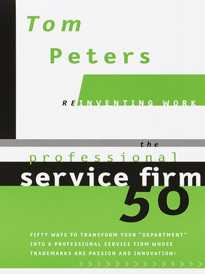 cover image of The Professional Service Firm 50 (Reinventing Work)