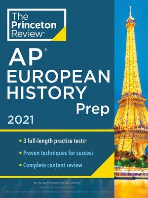 cover image of Princeton Review AP European History Prep, 2021