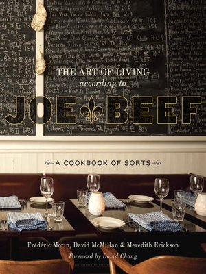 cover image of The Art of Living According to Joe Beef