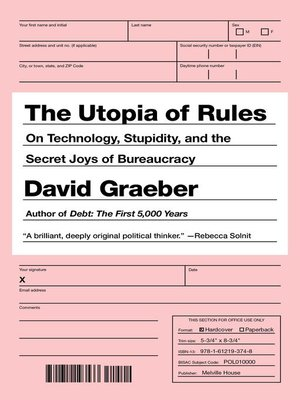 cover image of The Utopia of Rules