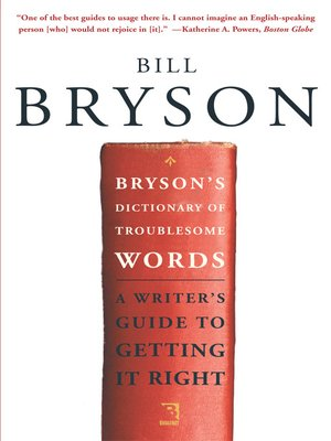 cover image of Bryson's Dictionary of Troublesome Words