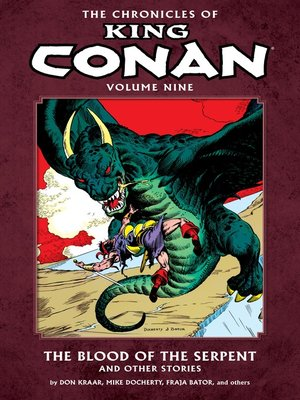 cover image of The Chronicles of King Conan, Volume 9